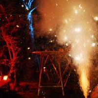 Feuerwerk mittendrin